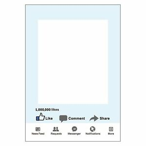 Large-Size-party-props-Photo-Booth-Frame-FB-Share-comment-1000k-aime-Party-Fun