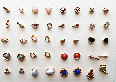 Stud Earrings 20pk set Gold colour Mini  BNWT
