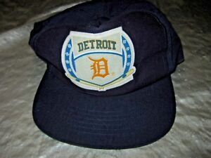 pretty nice 825a6 f6a28 Image is loading Vintage-Detroit-Tigers-Drew-Pearson-Headwear-Snapback -Baseball-