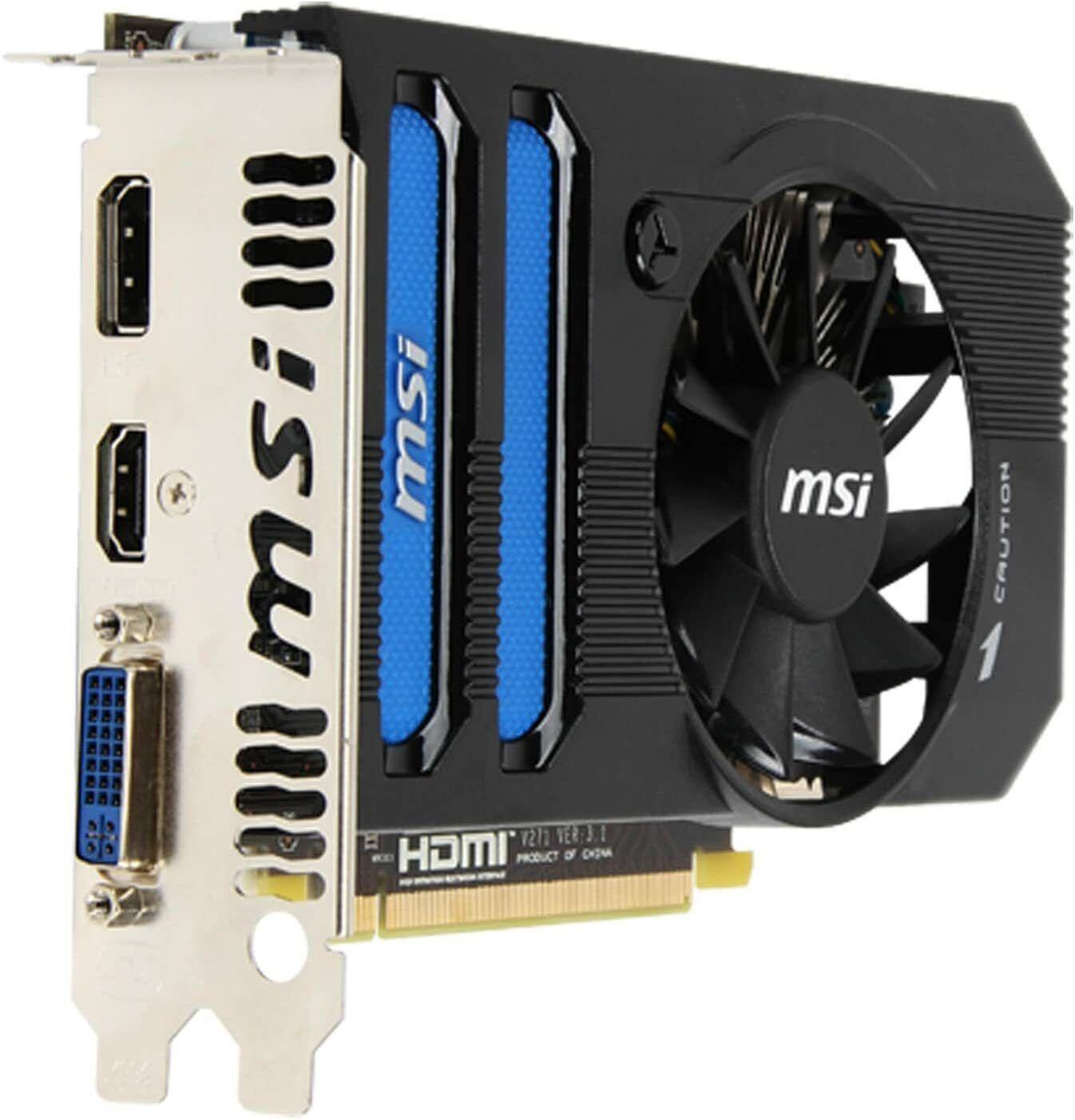 MSI AMD Radeon HD 7770 1GB GDDR5 DVI/HDMI/DisplayPort PCI-Express Video Card R77