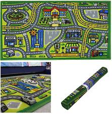 JVL Anti Slip Children's Road Map Town Carpet Kids Bedroom Play Mat Rug 80x110cm