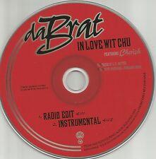 DA BRAT & CHERISH In Love Wit Chu w/ RADIO EDIT & INSTRUMENTAL PROMO CD Single
