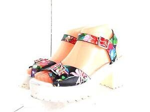 Steve Madden Womens Galile Ankle Strap Sandals Multi-Color SZ 7.5 M