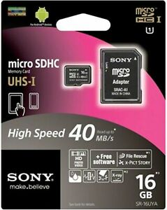 Sony-8-Gb-Micro-sdhc-memory-card-Class-10-Uhs-I-40-Mb-S-Read-SD-phone-camera