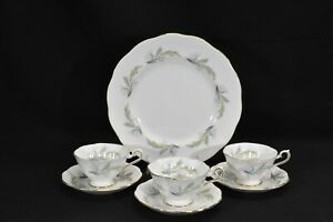 Royal-Albert-Rendez-Vous-Dinner-Plate-amp-3-Cups-amp-Saucers