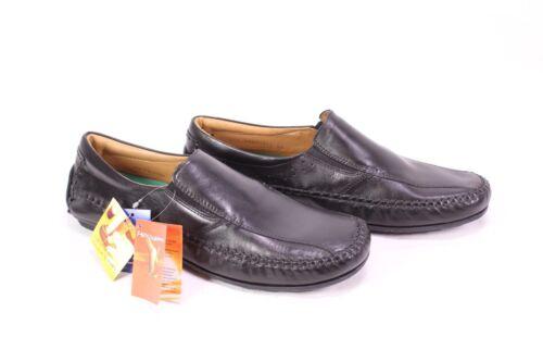 C457 Freemood Komfort Schuhe Leder schwarz Slipper Gr. 45 Wechselfußbett neu