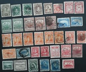 RARE-1868-Newfoundland-Canada-lot-of-36-stamps-Mint-amp-Used