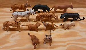 Schleich-Cheetah-Jaguar-Leopard-Tiger-Cat-Adult-Kitten-Cub-Figurine-LOT-of-12