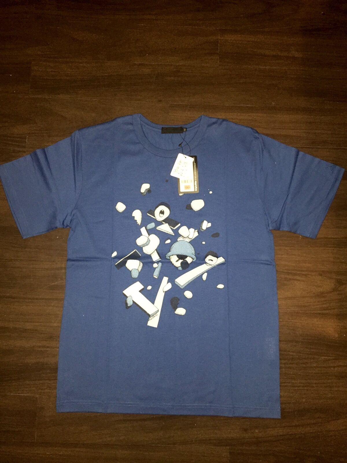 RARE    KAWS ORIGINAL FAKE Puzzle Tee T Shirt Größe 3 OF