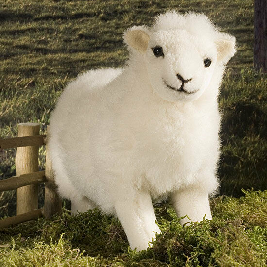 White sheep   lamb - collectable alpaca soft toy - Kosen   Kösen - 5720 - 28cm