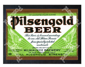 Historic-Pilsengold-Beer-Milwaukee-Brewery-Beer-Ad-Postcard