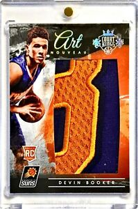 2015 16 Panini Court Kings Devin Booker 25 Art Nouveau Rookie Numbers Patch Ebay