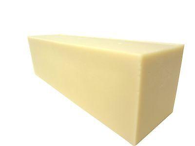 Goat Milk Soap Loaf 2lb, 4lb, 8lb, 12lb Fragrance Free Organic Shea Butter NEW
