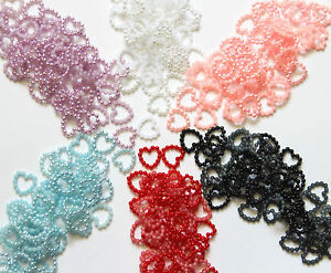 50-Small-Pearl-Effect-Beaded-Hearts-Card-Making-Craft-amp-Wedding-Table-11mm