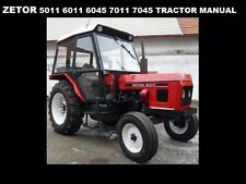 ZETOR 5011 6011 6045 7011 7045 OPERATIONS MANUAL for Tractor Service & Repair