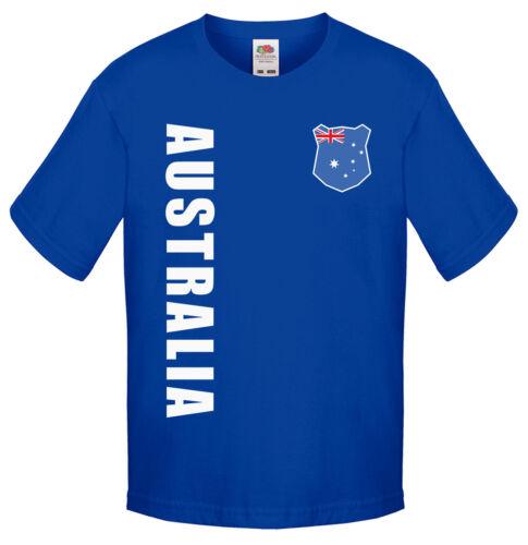 Australia Australia Bambini Maglia Fanshirt T-Shirt WM 2018 nome numero