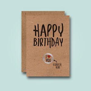 Image Is Loading Scratch Here Funny Birthday Card Love Girlfriend Boyfriend