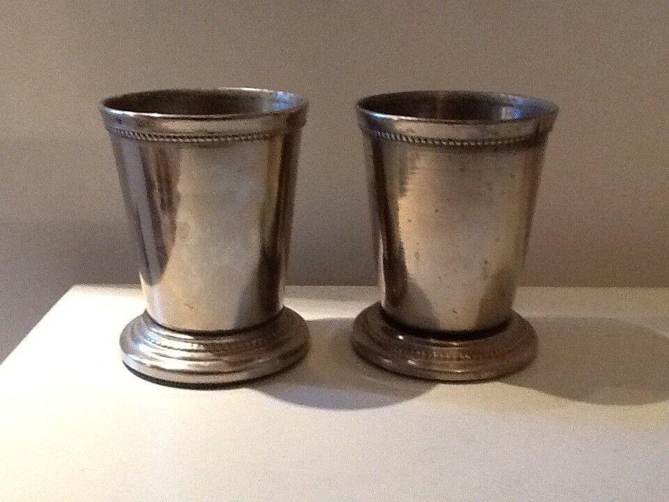 Sølvtøj, 2 små vaser/urtepotter i sølvplet