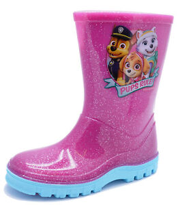 GIRLS-PINK-PAW-PATROL-SPLASH-BOOTS-RAIN-WELLIES-WELLINGTONS-KIDS-SIZES-5-10