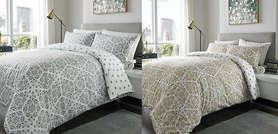 Flannelette Brushed Cotton Willow Floral Reversible Duvet Covers Bedding Sets GC