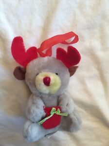 Millars-Ark-Gray-Plush-Red-Nosed-Reindeer-Christmas-Ornament