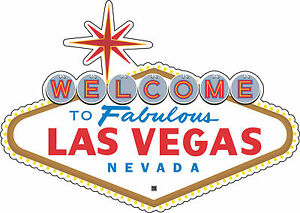 Las Vegas Nevada car bumper sticker decal 5 x 3