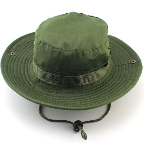 Multicam Boonie Bucket Bush Jungle Hat Wide Brim Army Military Sun Cap Cadet UK