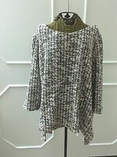 Alfani Woman 3x Sweater Metallic Pink Black Gold
