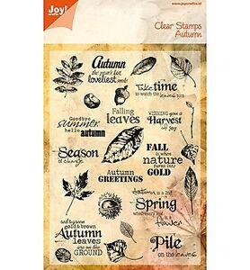Motiv-Stempel-Clear-stamps-25St-Autumn-Herbst-Blaetter-Nuesse-JoyCrafts-6410-0098