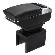 Universal Car Center Armrest Console Storage Organizer Box Cup Holder Pu Leather Fits Mazda