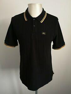 Herren-Alpha-Industries-schwarz-Poloshirt-Top-VGC-Groesse-Large