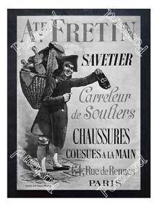 Historic-Auguste-Fretin-Paris-shoes-Advertising-Postcard
