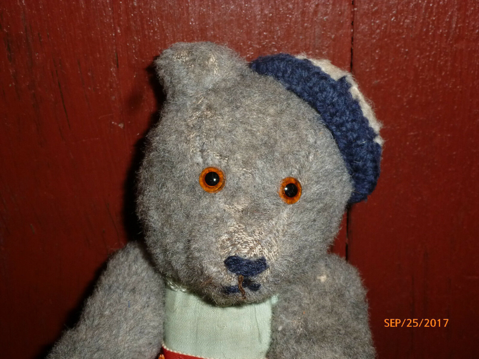 Antique grau Bear Blau German Teddy Bear grau 2b3d01