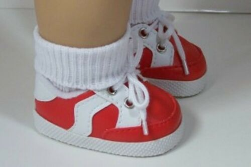 """Debs RED Sporty-Sport Tennis Doll Shoes For 18/"""" American Girl"""