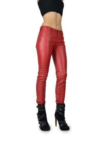 Skinny Leather Pantaloni Punk Red Goth Zx4796 Pvc Jean Emo Faux Tripp Rockstar Nyc w8qA8RT