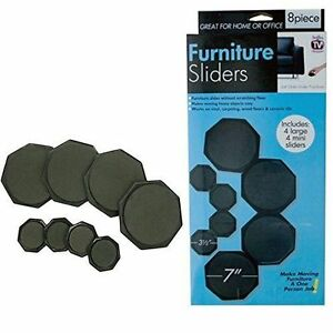 Furniture Sliders Pads Reusable 8 Pack Moving Kit Or Permanent Use Ebay