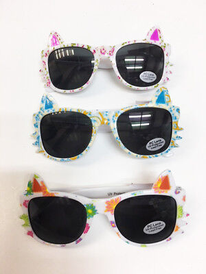 Girls Sunglasses Kitty Cat Whiskers Ears Frame Kid/'s Fashion UV 400