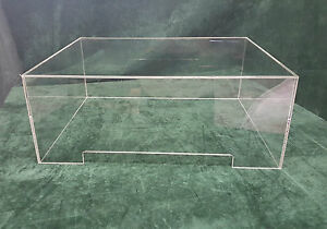 Clear-Acrylic-Turntable-Dust-Cover-Vinyl-Case-Michell-Orb-520mm-x-430mm-x-205mm