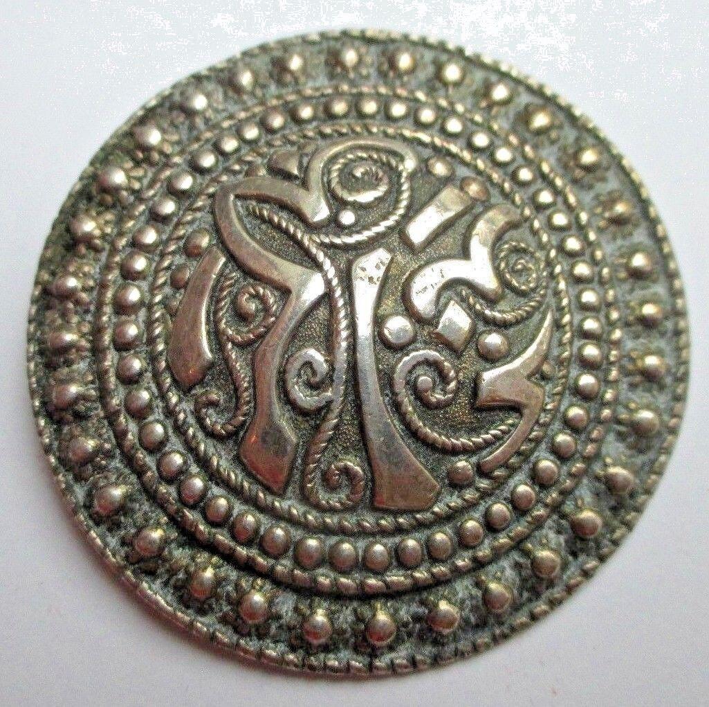 64d0c4db7cf Ancienne broche ronde color silver beau bijou vintage 785 Bretagne Celtique  nuvaii19232-Brooches & Pins