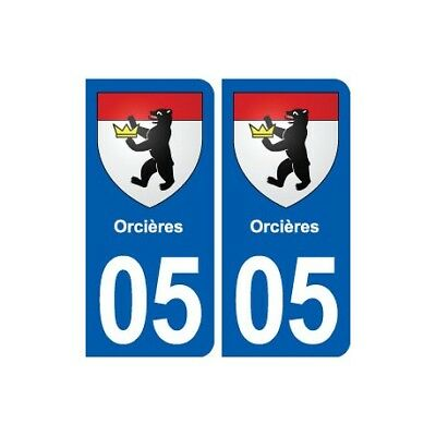 05 Orcières Blason Ville Autocollant Plaque Stickers Prezzo Moderato