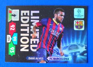 CARD-ADRENALYN-CHAMPIONS-LEAGUE-2013-14-DANI-ALVES-BARCELONA-LIMITED-ED