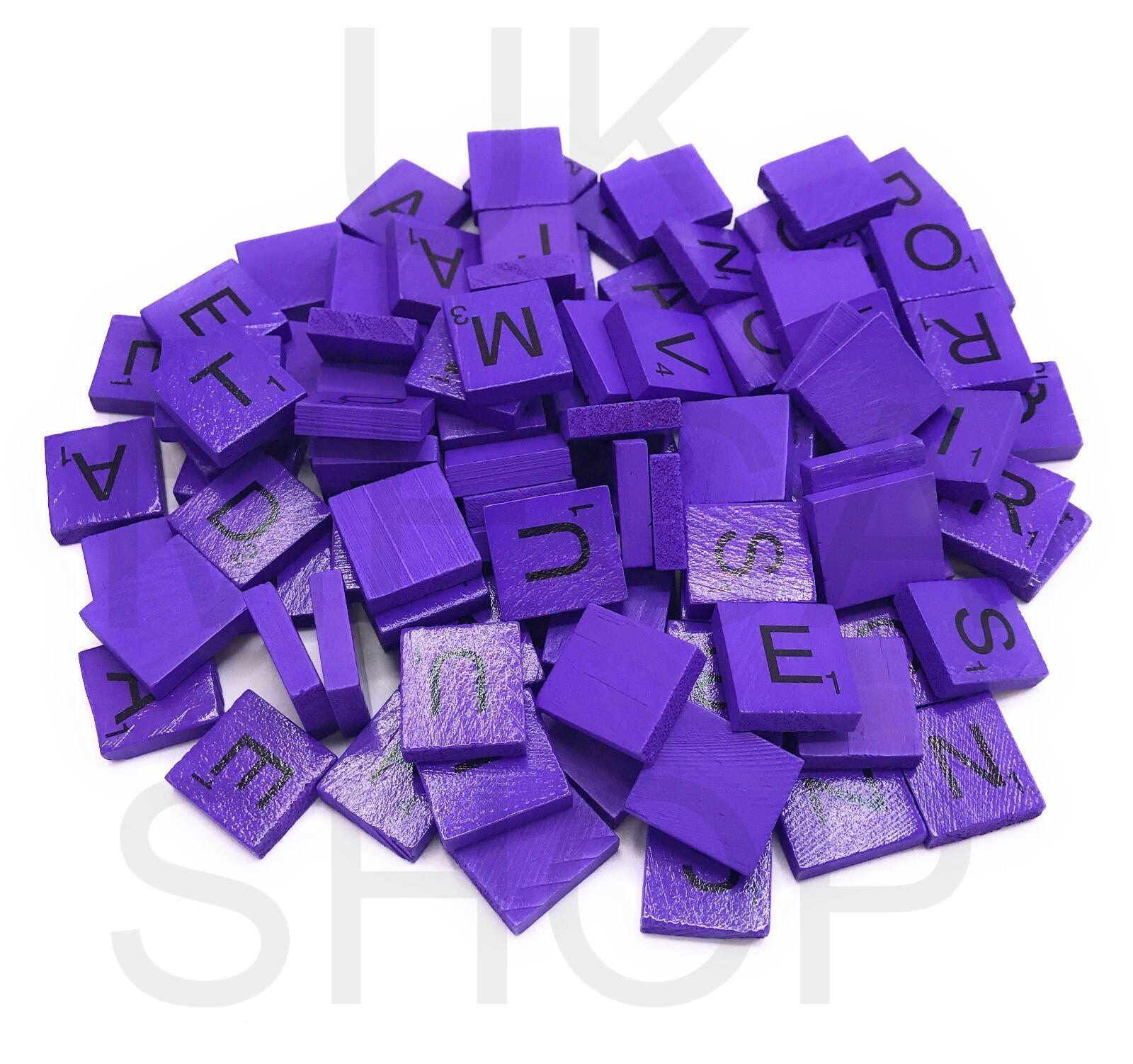 De Madera Scrabble Azulejos Azulejos Azulejos De Color Tamaño Completo Conjunto para Arte y Manualidades Álbum De Recortes Cartas a125cf