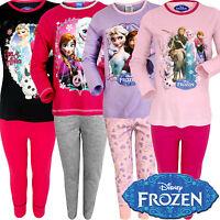 Girls Disney Frozen Pyjama Set Pj Long Princess Nightwear Elsa Anna Olaf Gift