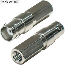 100x BNC Female Connector 75 Ohm Socket -RG59 Screw/Twist on -Coax/Coaxial Cable