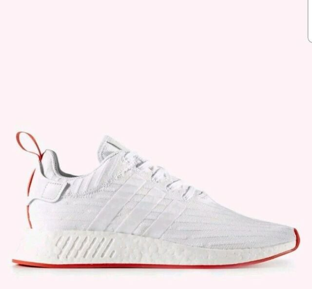 best website 6c959 a6247 NEW! Adidas NMD R2 PK Primeknit Running Shoes Sz 12.5 White Red BA7253