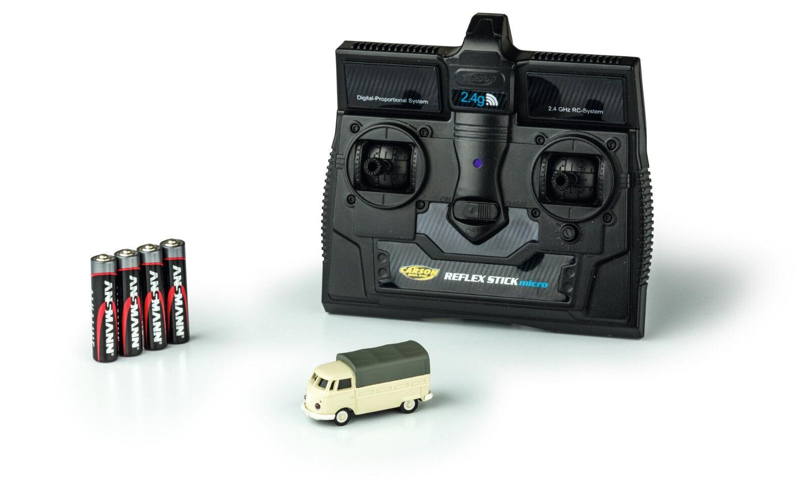 Carson 500504117 1 87 VW t1 furgoneta argentoforma 2.4g 100% rtr mercancía nueva