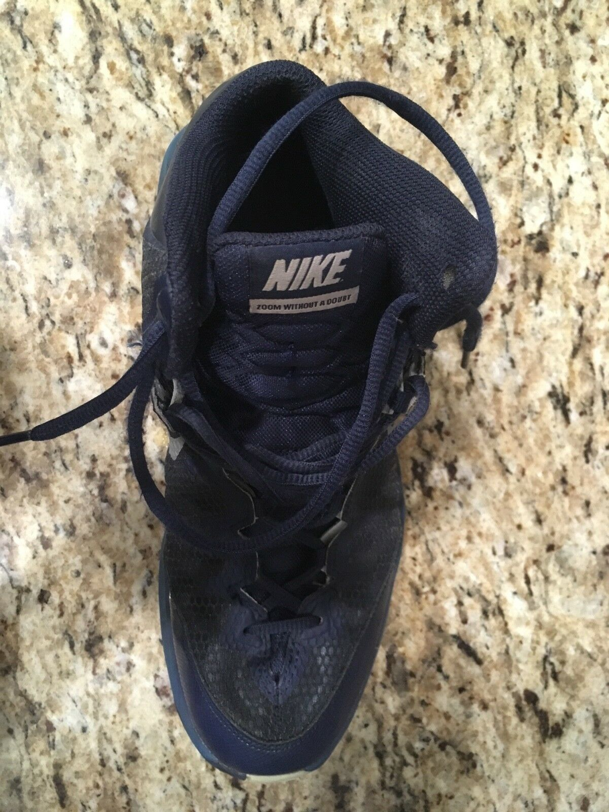 mens navy blue nike basketball shoes nike zoom men's size 8 used