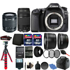 Canon EOS 80D DSLR Camera + 18-55 & 75-300mm Lens plus Extra Battery Bundle