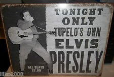 ELVIS PRESLEY CONCERT, TUPELO'S OWN, USA  METAL SIGN 40X30cm, ROCK n ROLL, KING