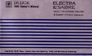 1981-Buick-Electra-Lesabre-Owners-Manual-User-Guide-Reference-Operator-Book-OEM